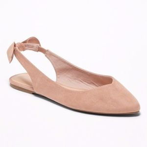 Old Navy Bow Back Slingback Flats